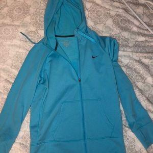 Nike zip up jacket with hood